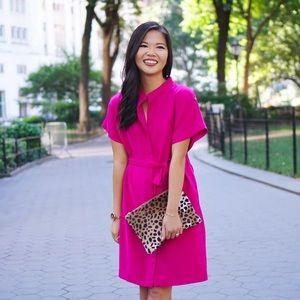 Fuchsia shirt dress